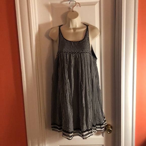 The Limited Dresses & Skirts - Fun Black and White Polka Dotted Babydoll Dress